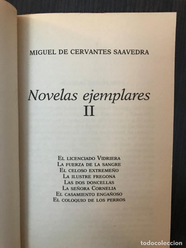 Libros de segunda mano: Miguel de Cervantes, Novelas Ejemplares II, Clásicos Españoles - Foto 3 - 114125483