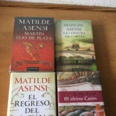 Libros de segunda mano: PACK MATILDE ASENSI: CATÓN + OJO DE PLATA. CÍRCULO DE LECTORES.. Lote 120482035