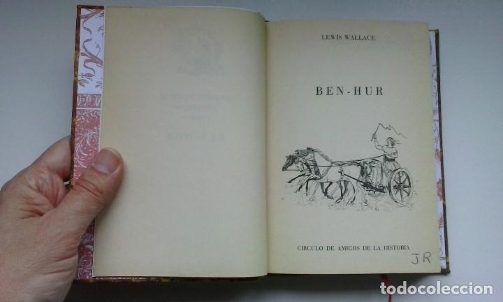 Libros de segunda mano: Ben-Hur (1970) / Lewis Wallace. Círculo de Amigos de la Historia. Encuadernación artesanal. - Foto 9 - 122967947