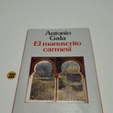 Libros de segunda mano: EL MANUSCRITO CARMESI. ANTONIO GALA.. Lote 133385942