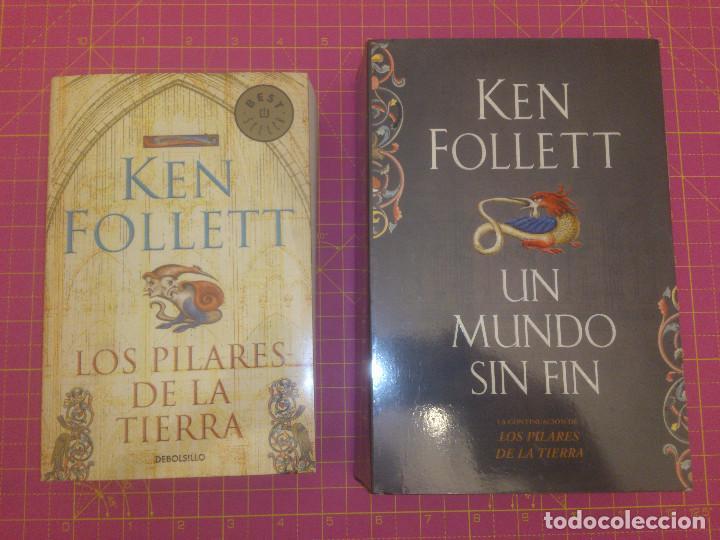 LOS PILARES DE LA TIERRA - UN MUNDO SIN FIN - KEN FOLLET - TAPA BLANDA (Libros de Segunda Mano (posteriores a 1936) - Literatura - Narrativa - Novela Histórica)