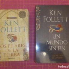 Libros de segunda mano: LOS PILARES DE LA TIERRA - UN MUNDO SIN FIN - KEN FOLLET - TAPA BLANDA. Lote 136469106