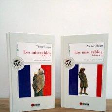 Libros de segunda mano: LOS MISERABLES. LOTE I Y II VOLÚMEN. HUGO, VICTOR. MILLENIUM. 1 ª 1999. Lote 137342010
