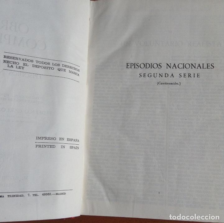 Libros de segunda mano: BENITO PÉREZ GALDOS OBRAS COMPLETAS EPISODIOS NACIONALES 1944-1945 TRES TOMOS - Foto 5 - 138941902