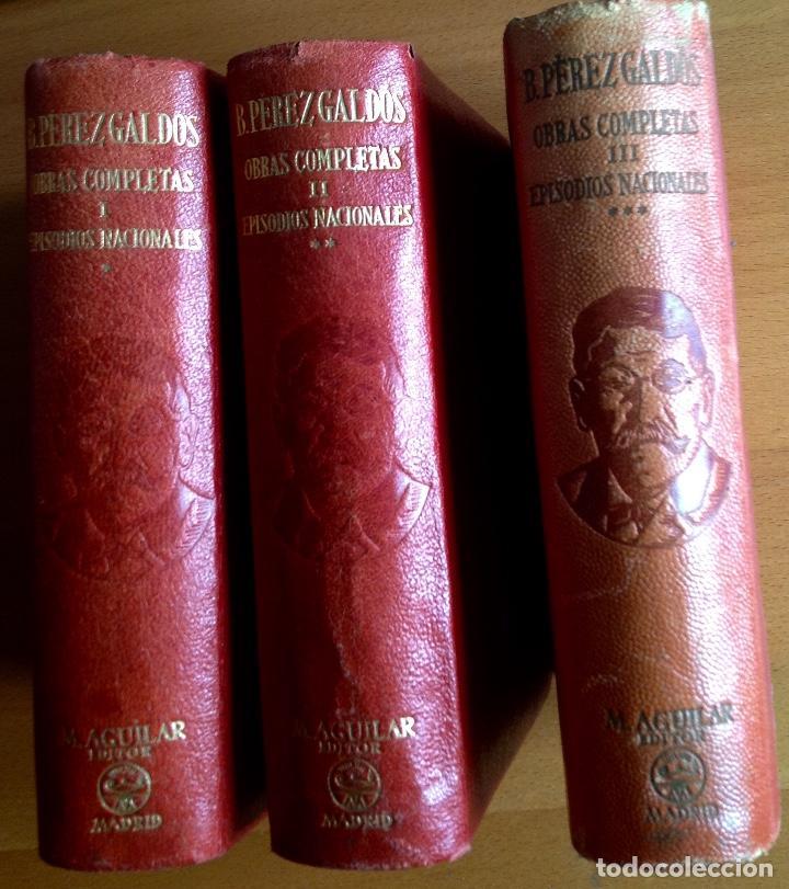 Libros de segunda mano: BENITO PÉREZ GALDOS OBRAS COMPLETAS EPISODIOS NACIONALES 1944-1945 TRES TOMOS - Foto 8 - 138941902