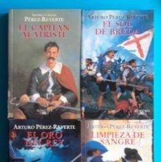 Libros de segunda mano: CAPITÁN ALATRISTE: 4 NOVELAS Y 2 GUÍAS DE LECTURA. ARTURO PÉREZ REVERTE. ALFAGUARA.. Lote 139050238