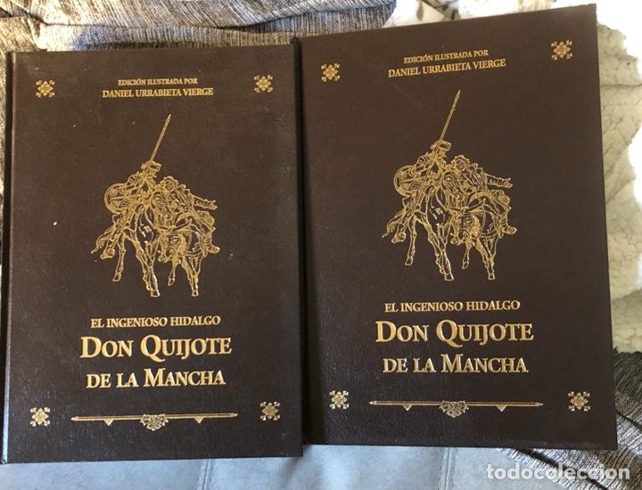 LOTE DE 2 TOMOS DEL QUIJOTE ILUSTRADO POR DANIEL URRABIETA, ENVÍO GRATIS (Libros de Segunda Mano (posteriores a 1936) - Literatura - Narrativa - Novela Histórica)