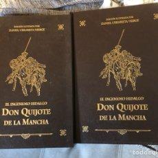 Libros de segunda mano: LOTE DE 2 TOMOS DEL QUIJOTE ILUSTRADO POR DANIEL URRABIETA, ENVÍO GRATIS. Lote 143871169