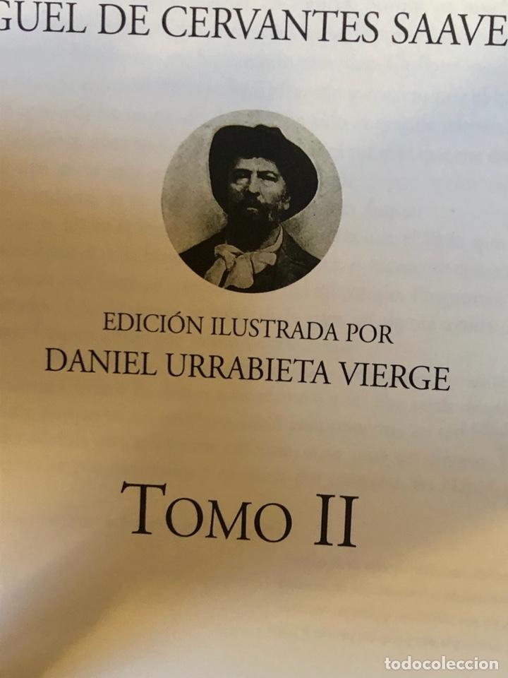 Libros de segunda mano: Lote de 2 tomos del quijote ilustrado por Daniel urrabieta, envío gratis - Foto 4 - 143871169