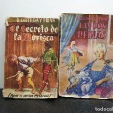 Libros de segunda mano: DOS NOVELAS DE RAMÓN ORTEGA Y FRÍAS. EL SECRETO DE LA MORISCA / LAS DOS REINAS. (ENVÍO 2,40€). Lote 145662750