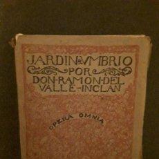 Libros de segunda mano: VALLE-INCLÁN. JARDÍN UMBRÍO. NOVELA. BUEN CLÁSICO DE LA GENERACIÓN DEL 98.. Lote 146129230