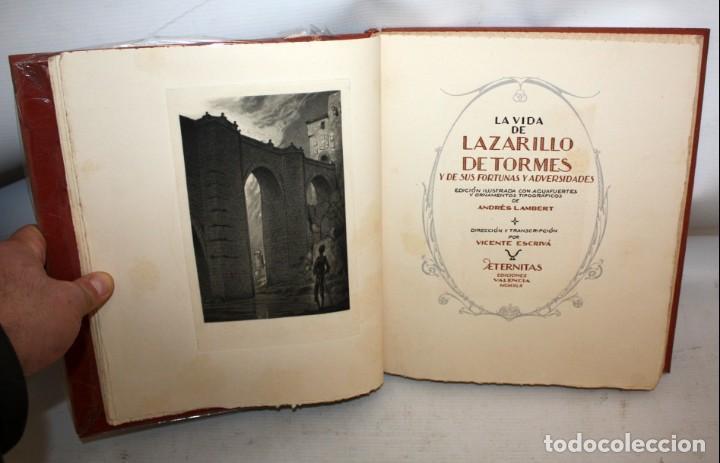 Libros de segunda mano: LA VIDA DE LAZARILLO DE TORMES Y DE SUS FORTUNAS Y ADVERSIDADES-1942. - Foto 7 - 147643842