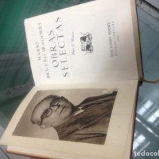 Libros de segunda mano: BRICEÑO IRAGORRY, MARIO OBRAS SELECTAS EDITORIAL: EDIME, MADRID - CARACAS, 1954. Lote 147871694