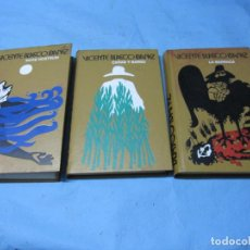 Libros de segunda mano: LIBROS DE VICENTE BLASCO IBAÑEZ LA BARRACA MARE NOSTRUM Y CAÑAS Y BARROS. Lote 152228002