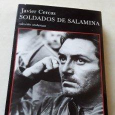 Libros de segunda mano: SOLDADOS DE SALAMINA (1ª ED. MARZO 2001). SIN LEER, EXCELENTE ESTADO. JAVIER CERCAS. TUSQUETS ANDANZ. Lote 137840758