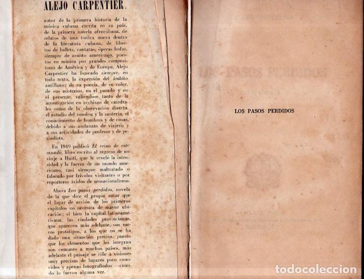 Libros de segunda mano: LOS PASOS PERDIDOS. ALEJO CARPENTIER. E. D. I. A. P. S. A. 1ª EDICION. 1953. 2000 EJEMPLARES. - Foto 5 - 158508822