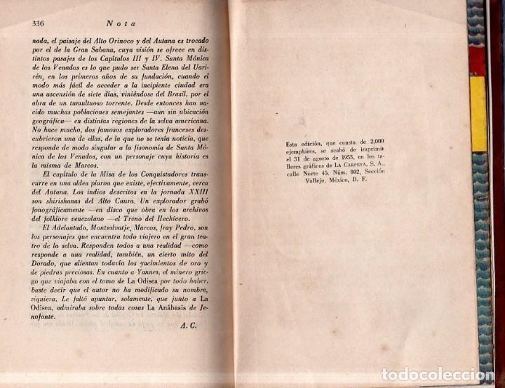 Libros de segunda mano: LOS PASOS PERDIDOS. ALEJO CARPENTIER. E. D. I. A. P. S. A. 1ª EDICION. 1953. 2000 EJEMPLARES. - Foto 7 - 158508822