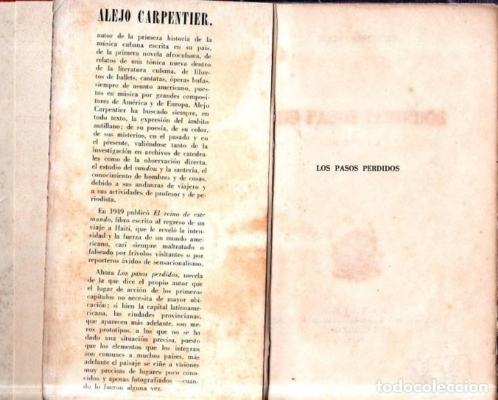 Libros de segunda mano: LOS PASOS PERDIDOS. ALEJO CARPENTIER. E. D. I. A. P. S. A. 1ª EDICION. 1953. 2000 EJEMPLARES. - Foto 4 - 158515978