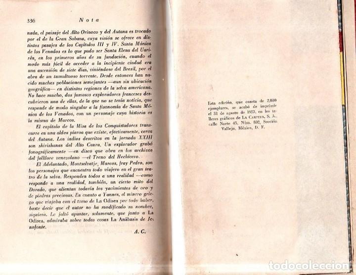 Libros de segunda mano: LOS PASOS PERDIDOS. ALEJO CARPENTIER. E. D. I. A. P. S. A. 1ª EDICION. 1953. 2000 EJEMPLARES. - Foto 7 - 158515978
