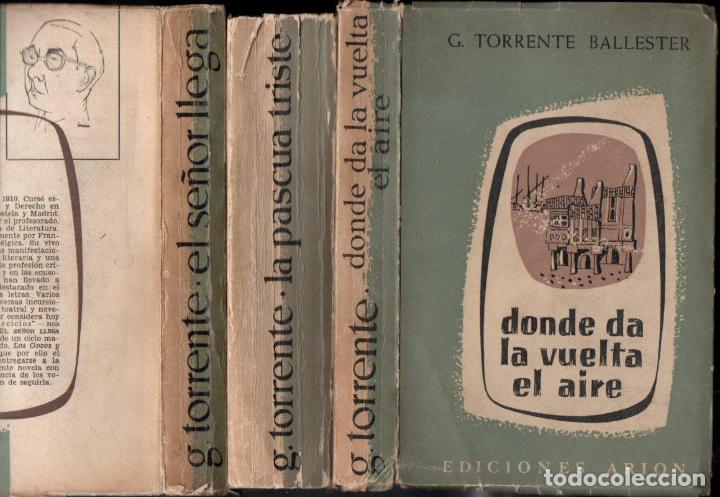 GONZALO TORRENTE BALLESTER :LOS GOZOS Y LAS SOMBRAS - 3 TOMOS (ARION, 1957-60-62) PRIMERA EDICIÓN (Libros de Segunda Mano (posteriores a 1936) - Literatura - Narrativa - Novela Histórica)