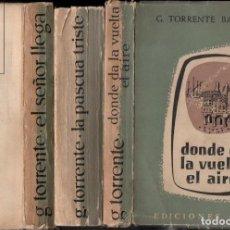 Libros de segunda mano: GONZALO TORRENTE BALLESTER :LOS GOZOS Y LAS SOMBRAS - 3 TOMOS (ARION, 1957-60-62) PRIMERA EDICIÓN. Lote 159765446