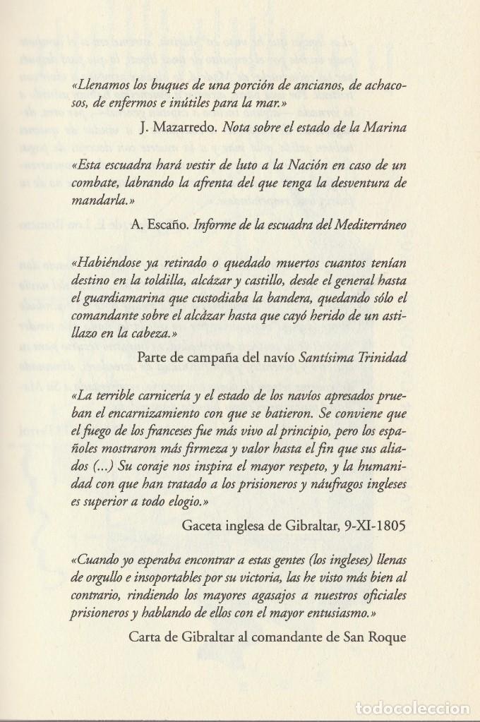 Libros de segunda mano: Cabo Trafalgar (edición de 2005), de Arturo Pérez-Reverte, editorial Alfaguara (Grupo Santillana). - Foto 6 - 160424438
