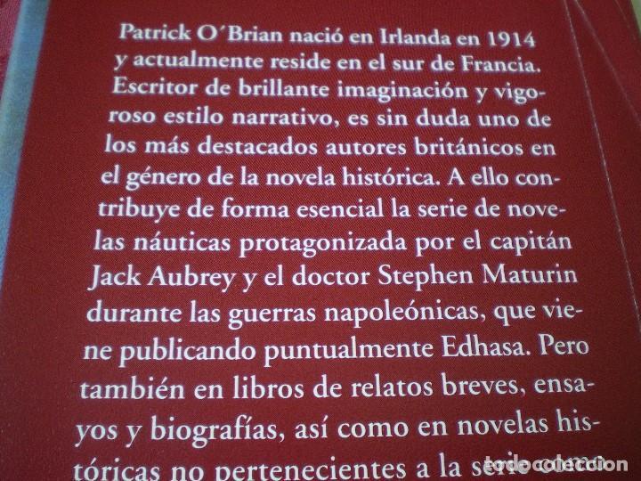 Libros de segunda mano: CONTRA VIENTO Y MAREA. PATRICK OBRIAN. NARRATIVAS HISTÓRICAS EDHASA. - Foto 4 - 161469806