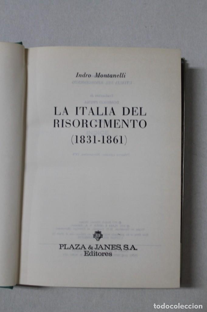 Libros de segunda mano: La Italia el Risorgimento dese la Carboneria hasta Victor Manuel - Foto 3 - 172062349