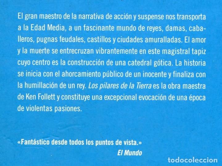 Libros de segunda mano: LOS PILARES DE LA TIERRA. Ken Follett. - Foto 2 - 175520208