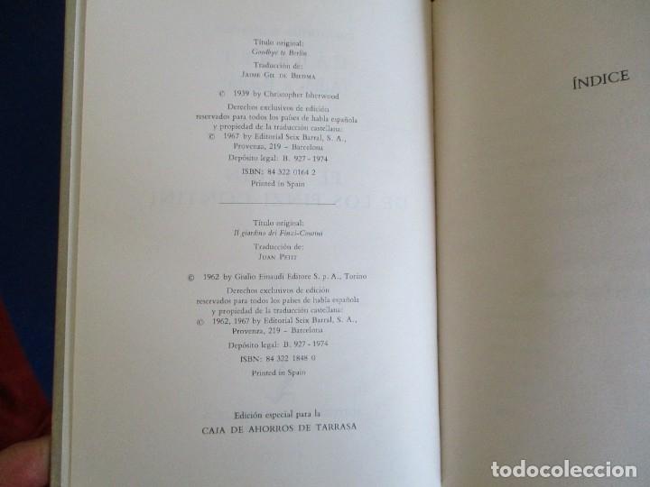 Libros de segunda mano: Cabaret y El Jardin de los Finzi-Contini - Foto 4 - 175817023
