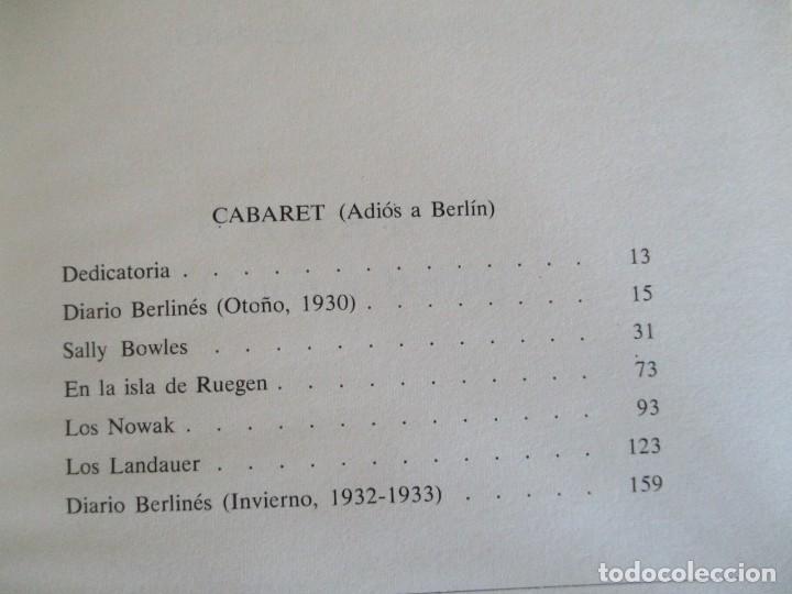 Libros de segunda mano: Cabaret y El Jardin de los Finzi-Contini - Foto 5 - 175817023
