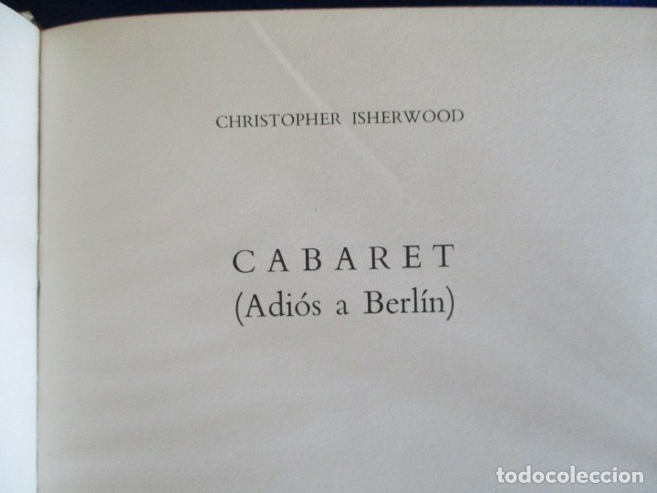 Libros de segunda mano: Cabaret y El Jardin de los Finzi-Contini - Foto 7 - 175817023