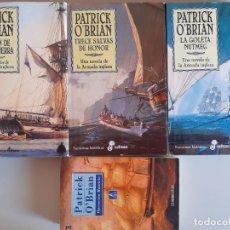 Libros de segunda mano: 4 NOVELAS DE PATRICK O'BRIAN - NOVELA DE LA ARMADA INGLESA - NUTMEG TRECE SALVAS OPERACION MAURICIO. Lote 176532598