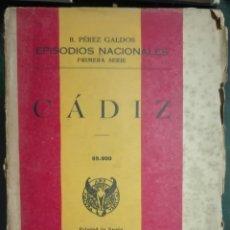 Libros de segunda mano: BENITO PÉREZ GALDÓS. CÁDIZ. 1940. Lote 179963023