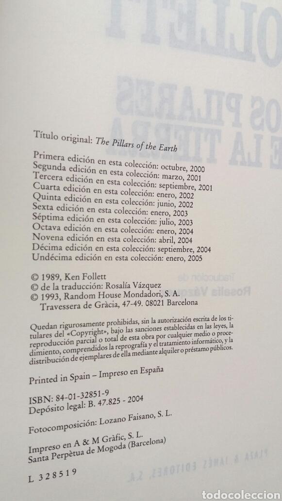 Libros de segunda mano: Los pilares de la tierra. Ken Follet. - Foto 7 - 180866112