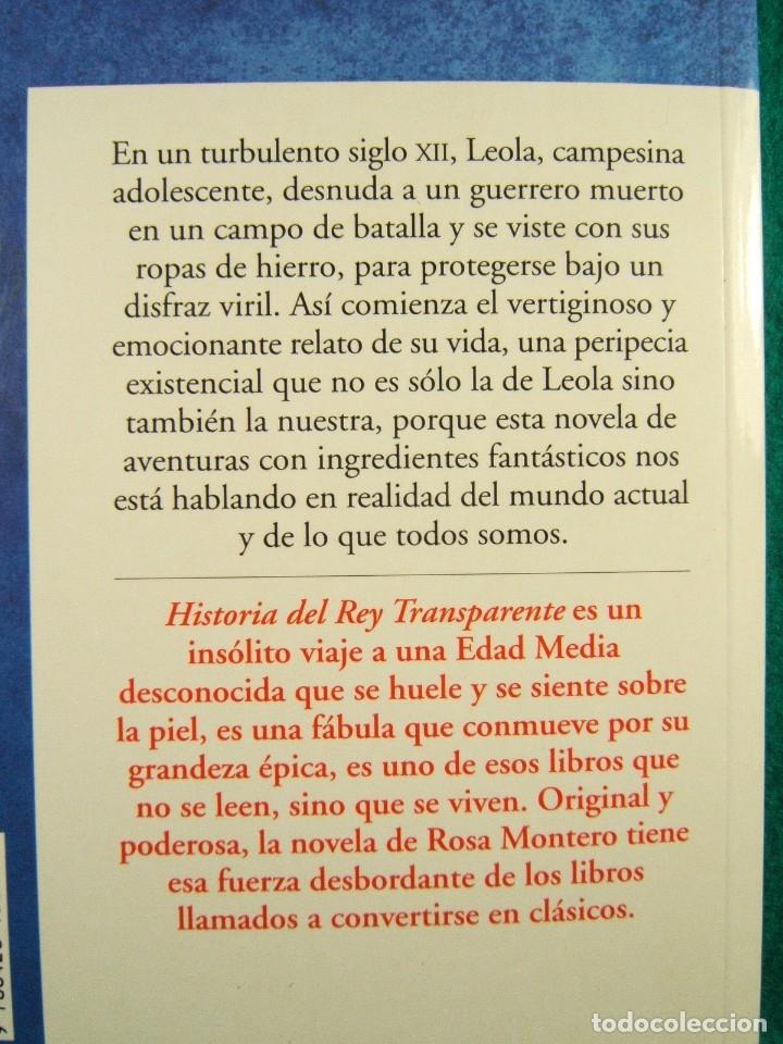 Libros de segunda mano: HISTORIA DEL REY TRANSPARENTE-ROSA MONTERO-UN INSOLITO VIAJE A LA EDAD MEDIA SIGLO XII-MAPA-2005. - Foto 2 - 181037287