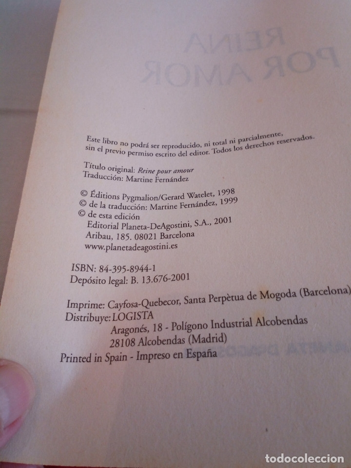 Libros de segunda mano: 46-REINA POR AMOR, Genevieve Chauvel, 2001 - Foto 5 - 182546463