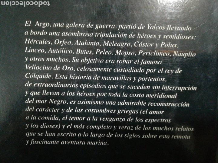 Libros de segunda mano: EL VELLOCINO DE ORO. LA EXTRAORDINARIA EPOPEYA DE LOS ARGONAUTAS - ROBERT GRAVES - EDHASA - Foto 2 - 182759077