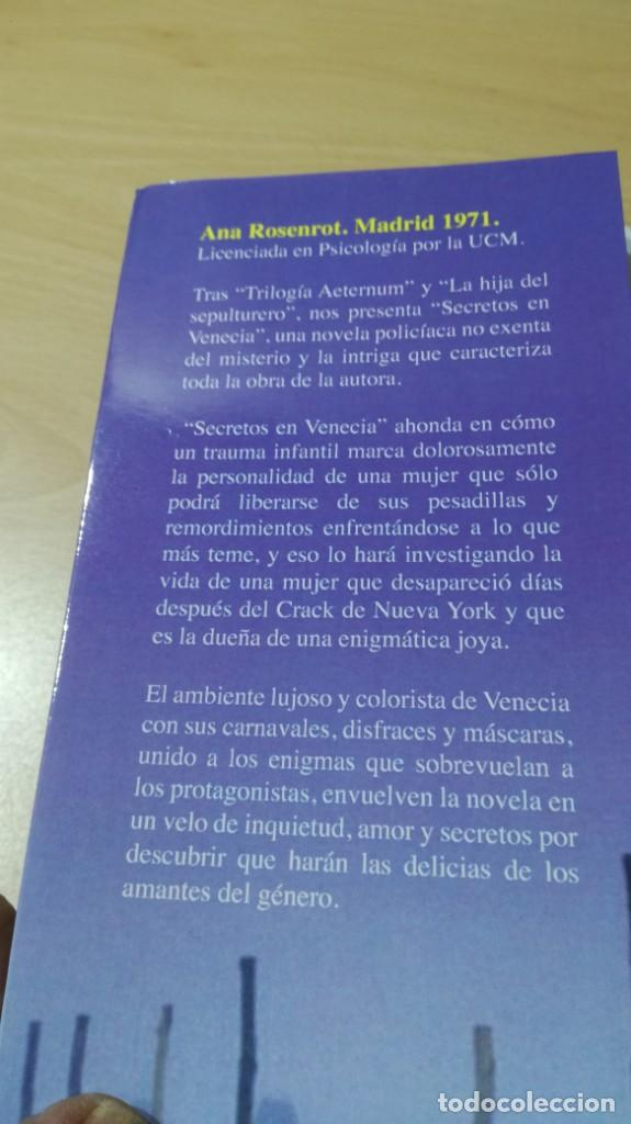 Libros de segunda mano: SECRETOS EN VENECIA - ANA ROSENROT - / H504 - Foto 4 - 183642063