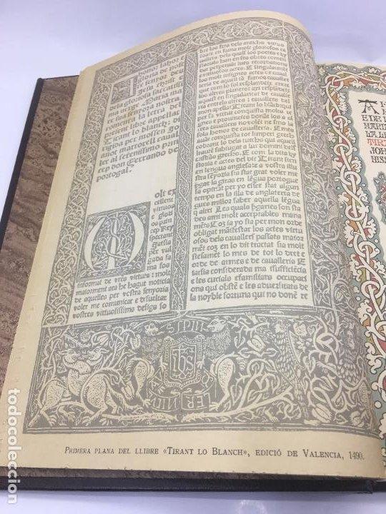 Libros de segunda mano: TIRANT LO BLANCH, DE JOHANOT MARTORELL I MARTI JHAN DE GALBA, 2 VOLUMEN, LUJOSOS Y EDICION NUMERADA - Foto 10 - 185925361
