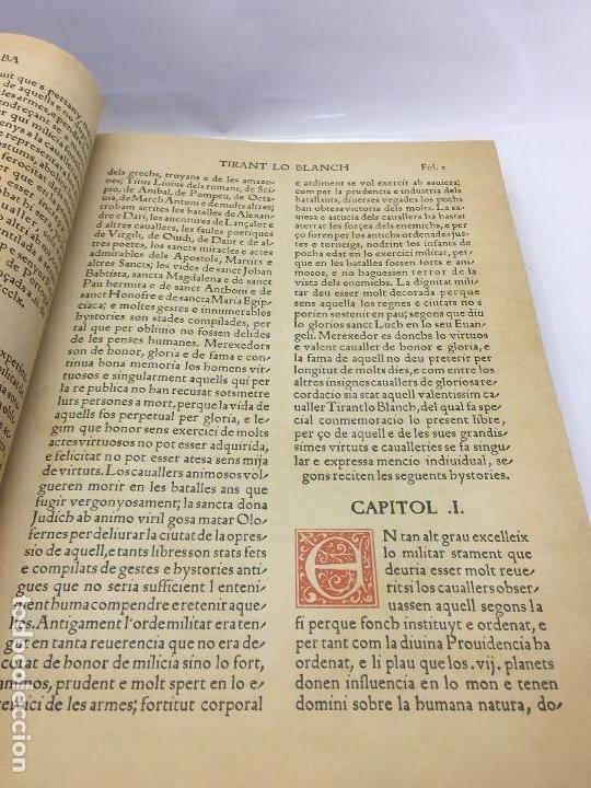 Libros de segunda mano: TIRANT LO BLANCH, DE JOHANOT MARTORELL I MARTI JHAN DE GALBA, 2 VOLUMEN, LUJOSOS Y EDICION NUMERADA - Foto 12 - 185925361