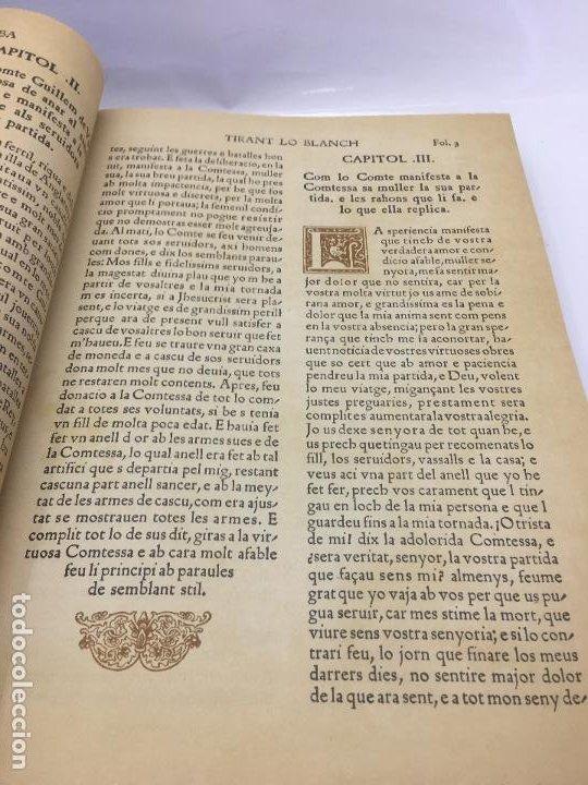 Libros de segunda mano: TIRANT LO BLANCH, DE JOHANOT MARTORELL I MARTI JHAN DE GALBA, 2 VOLUMEN, LUJOSOS Y EDICION NUMERADA - Foto 14 - 185925361