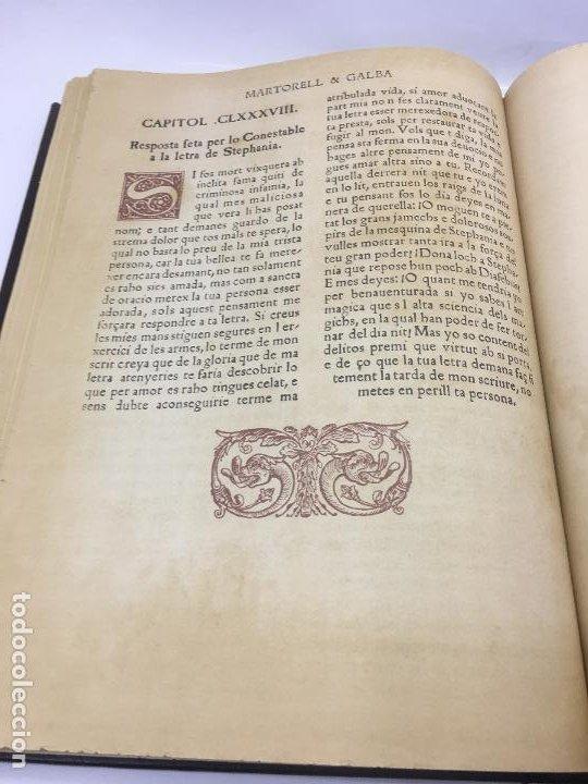 Libros de segunda mano: TIRANT LO BLANCH, DE JOHANOT MARTORELL I MARTI JHAN DE GALBA, 2 VOLUMEN, LUJOSOS Y EDICION NUMERADA - Foto 23 - 185925361