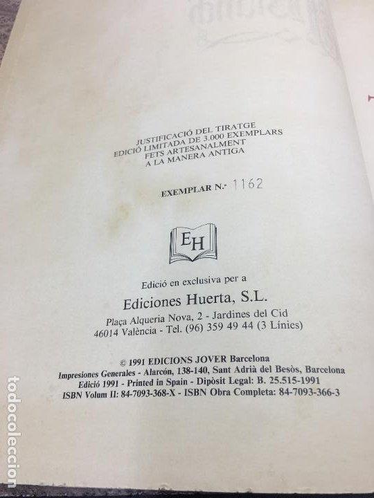 Libros de segunda mano: TIRANT LO BLANCH, DE JOHANOT MARTORELL I MARTI JHAN DE GALBA, 2 VOLUMEN, LUJOSOS Y EDICION NUMERADA - Foto 35 - 185925361