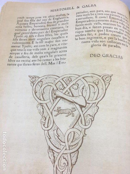 Libros de segunda mano: TIRANT LO BLANCH, DE JOHANOT MARTORELL I MARTI JHAN DE GALBA, 2 VOLUMEN, LUJOSOS Y EDICION NUMERADA - Foto 48 - 185925361