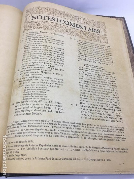 Libros de segunda mano: TIRANT LO BLANCH, DE JOHANOT MARTORELL I MARTI JHAN DE GALBA, 2 VOLUMEN, LUJOSOS Y EDICION NUMERADA - Foto 51 - 185925361