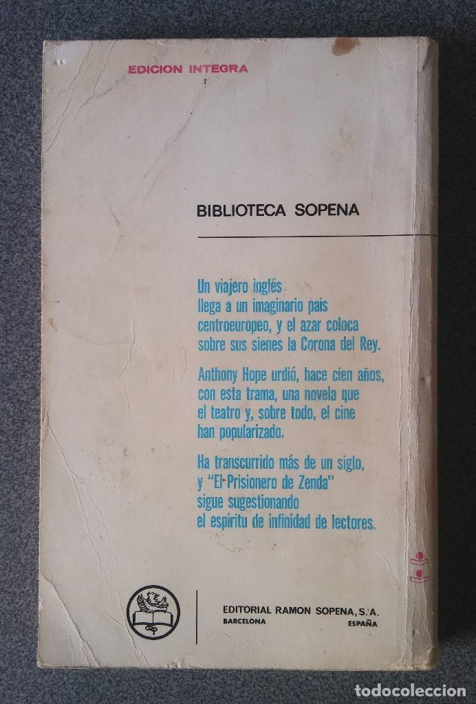 Libros de segunda mano: El Prisionero de Zenda Antonio Hope - Foto 2 - 186266545