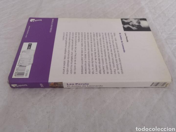 Libros de segunda mano: El Judas de Leonardo. Leo Perutz. Booket 6082. Libro - Foto 2 - 187453300