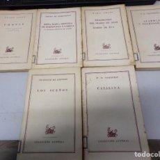 Libros de segunda mano: LOTE DE 6 LIBROS COLECCIÓN AUSTRAL PRIMERA EDICIÓN. Lote 190085990