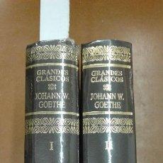 Libros de segunda mano: JOHANN W. GOETHE 2 TOMOS GRANDES C LASICOS DE AGUILAR PRECINTADOS. Lote 191157778